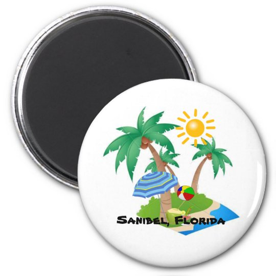 Sanibel Florida vacation refrigerator magnet