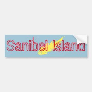 Sanibel Island fireball bumper sticker