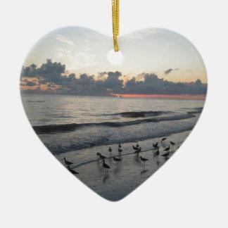 Sanibel Island, FL Ceramic Heart Decoration