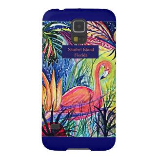 Sanibel Island Flamingo Art Cases For Galaxy S5
