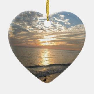 Sanibel Island, Florida Ceramic Heart Decoration