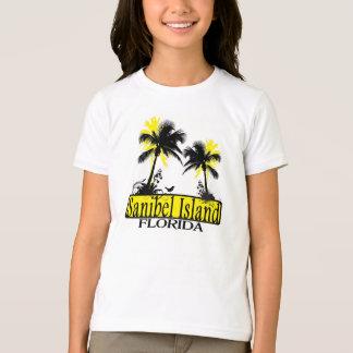 Sanibel Island Florida girls palm tree tee