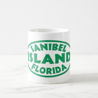 Sanibel Island Florida green oval Coffee Mug
