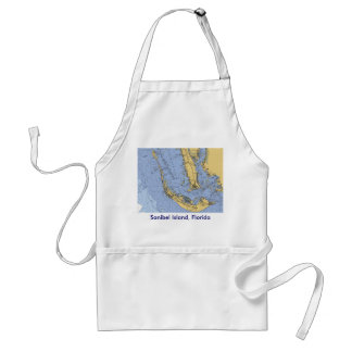 Sanibel Island Florida Nautical Chart Apron