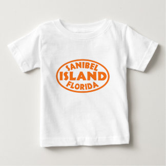Sanibel Island Florida orange oval Baby T-Shirt