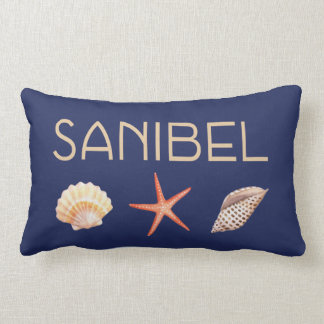 Sanibel  Island Florida with shells Lumbar Cushion