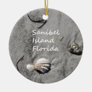 Sanibel Island Sand Shells Christmas Ornament