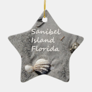 Sanibel Island Sand Shells Christmas Ornament