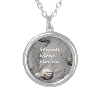 Sanibel Island Sand Shells Silver Plated Necklace
