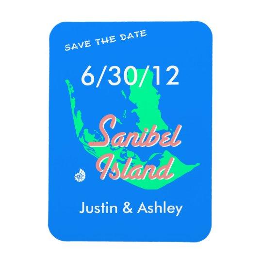 Sanibel Island save the date beach wedding Rectangular Photo Magnet