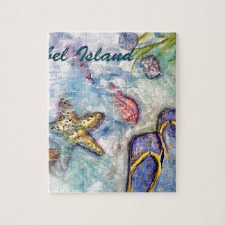 Sanibel Island Watercolor Florida Art Jigsaw Puzzle