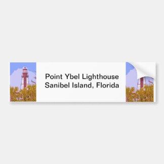 """Sanibel Lighthouse woodcut"" collection Bumper Sticker"