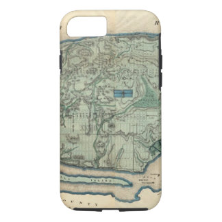Sanitary and Topographical Map of New York City iPhone 8/7 Case
