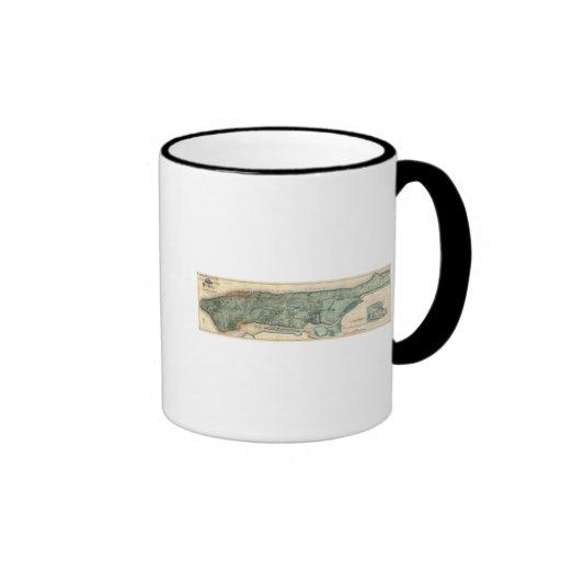 Sanitary and Topographical Map of New York City Coffee Mugs