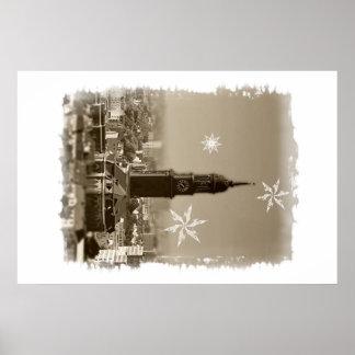 sank+michaelis+church, Hamburg, Christmas Poster