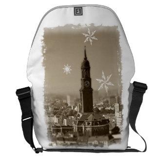 sank+michaelis+church, Hamburg, michel, Christmas Messenger Bag
