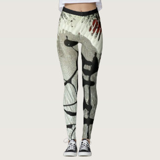Sank Parfwa Deece Ab-Stractions Active Wear Leggings