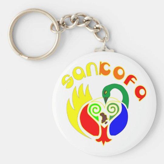SANKOFA BASIC ROUND BUTTON KEY RING
