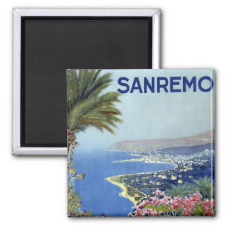 Sanremo Italy Vintage Square Magnet