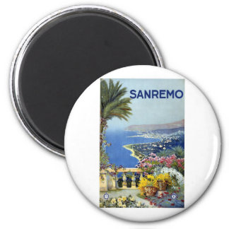 Sanremo Italy Vintage 6 Cm Round Magnet