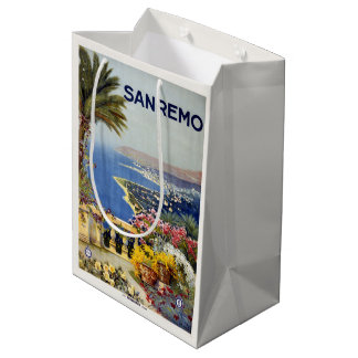 Sanremo Italy Vintage Travel gift bags