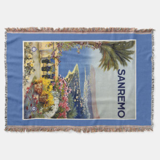 Sanremo Italy vintage travel throw blanket