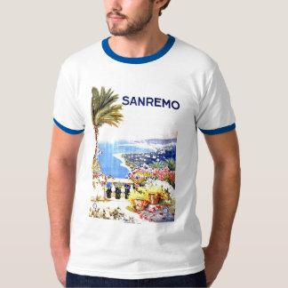 Sanremo Vintage Travel Poster Tshirts