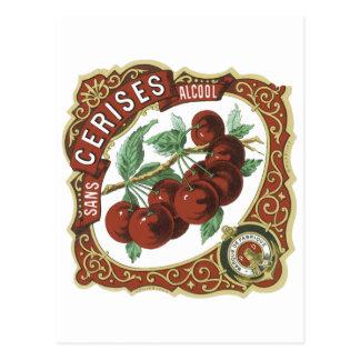 Sans Cerises Alcool Vintage Label Postcards