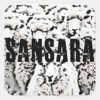 Sansara- Sticky Sheep Square Sticker
