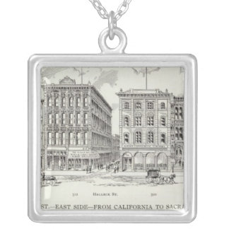 Sansome East side California and Sacramento Silver Plated Necklace