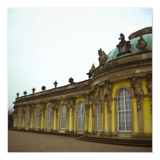 Sanssouci Palace 5.25x5.25 Square Paper Invitation Card
