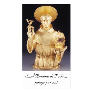 Sant Antonio santino - st Anthony holy card Business Card Templates
