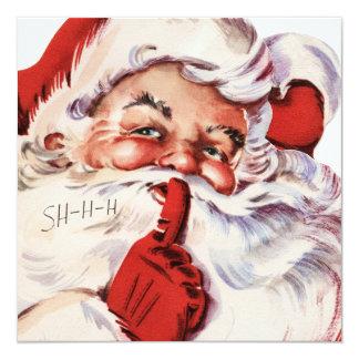 Santa 002 13 cm x 13 cm square invitation card