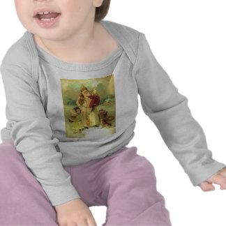 Santa 1897 Victorian Vintage Christmas Saint Nick T Shirts