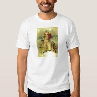 Santa 1897 Vintage Victorian Christmas Saint Nick T-shirts