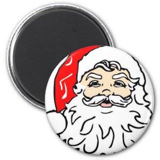 Santa 6 Cm Round Magnet