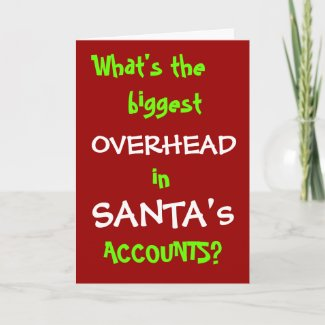 Santa Accounts Funny Accountant Christmas Joke