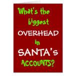 Santa Accounts - New Christmas Joke Greeting Card