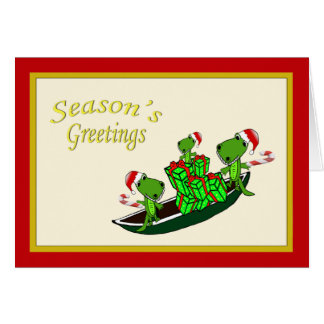 Santa Alligators Christmas Card