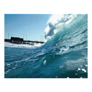 Santa Ana winds sculpt ocean waves Full Color Flyer