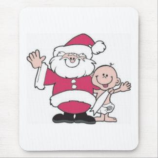 Santa and Baby New Year Mouse Pad