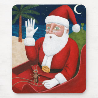 Santa and Bugsy Mouse Pad