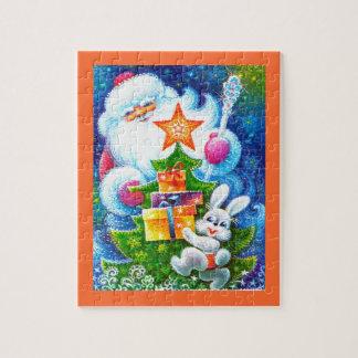 Santa and bunny jigsaw puzzle