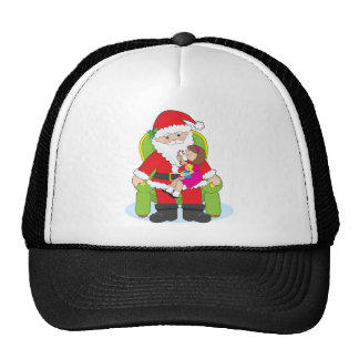 Santa and cap