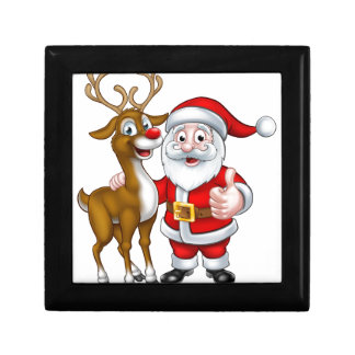 Santa and Christmas Reindeer Gift Box