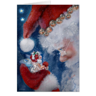 Santa and Faery Holiday Card