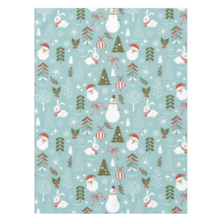 Santa And Forest Pattern Tablecloth