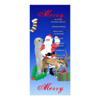 Santa and Friends 2 Rack Card Template