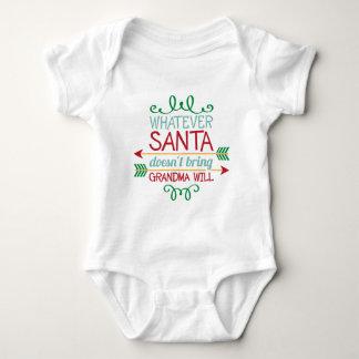 Santa and Grandma word art baby unisex bodysuit