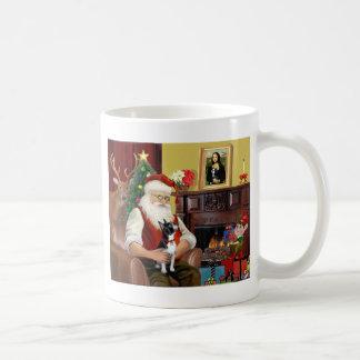 Santa and his Boston Terrier Coffee Mug